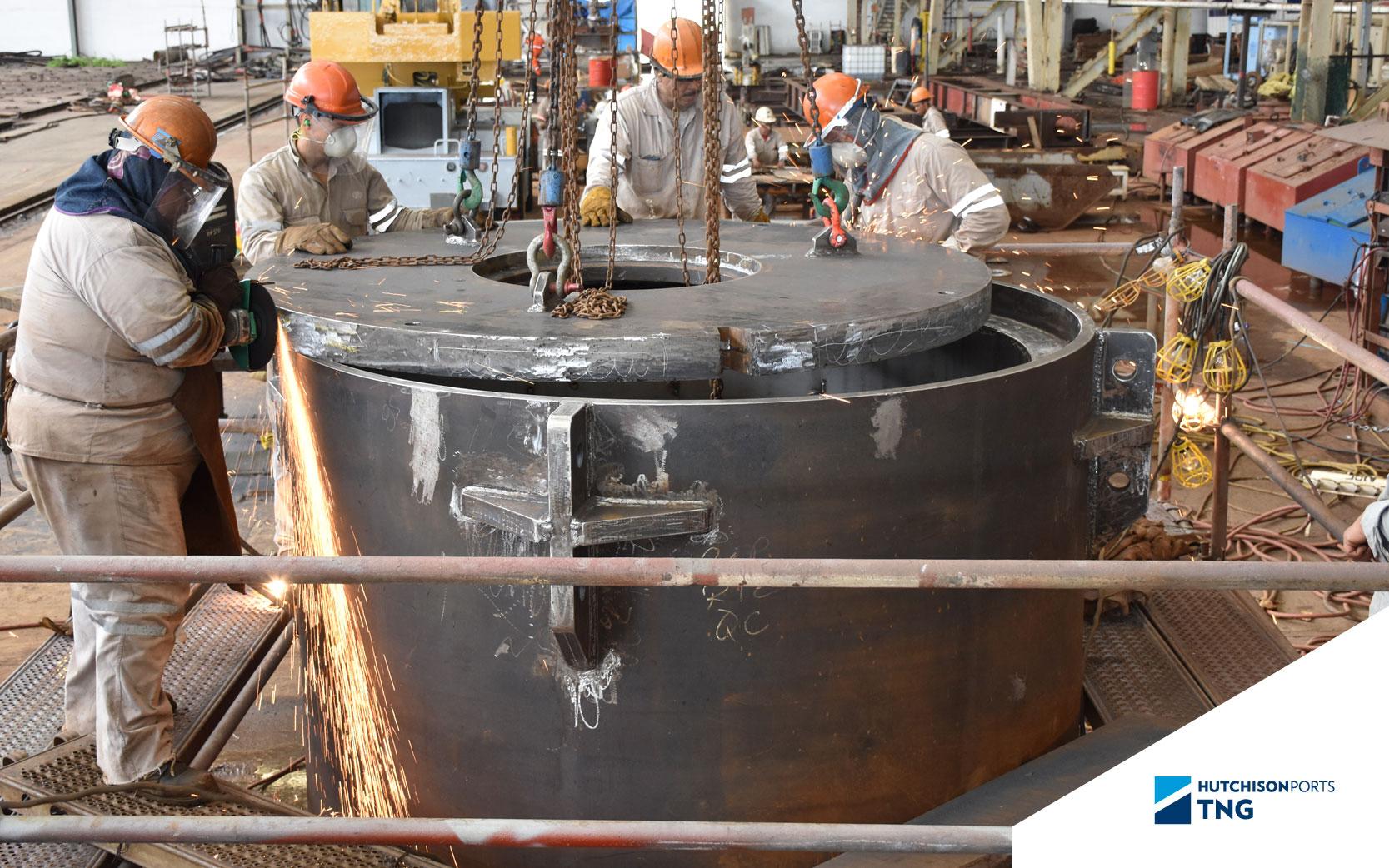 hazardous waste storage tank